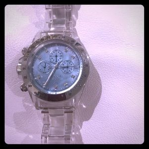 ToyWatch in clear/blue